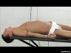 twink in the dungeon part 2- clothespinned balls weighted whipped
