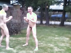 naked fight outdoors