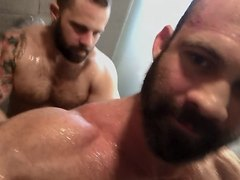 Hot Bears taking shower