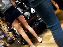 Recording hot babes in a clothes store