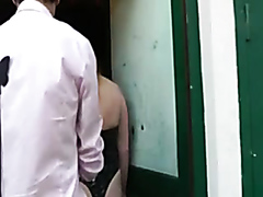 Fat sex slave drilled in all holes