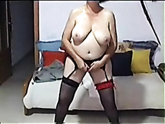 Mature slave owned by her master