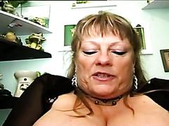 Fat granny in a rough threesome