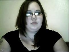 Solo fatty rubbing herself on camera