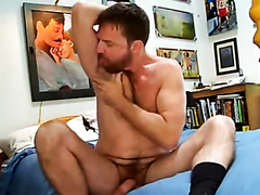 GINGER LICKS HIS RIPE PITS AND EATS HIS LOAD