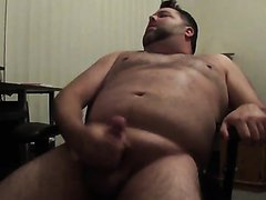 Bear jerking off