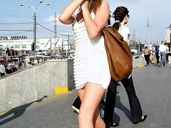 Russians Girls Street Upskirt.