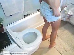 Beauty on toilet