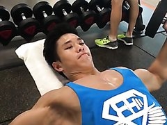 Hot Asian Hunk in Gym 2