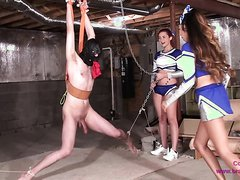 Cheerleader Ballbusting