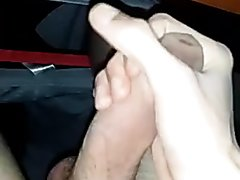 Jerking His Big Uncut Cock