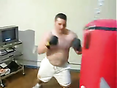 Hot heavy guy in the gym