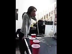 Girl pukes drunk