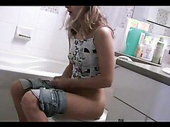 Blond Milf Toilet Plops and Farts