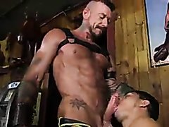 Harnessed young booted wants tatted beef  big cock
