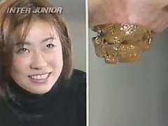Vintage Japanese constipated girl